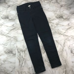 Justice Slim Mid Rise Black Jegging Jeans Girls 7